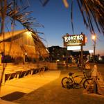 bonzer shack gallery outside at tnight