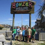 bonzer shack gallery sign and staff